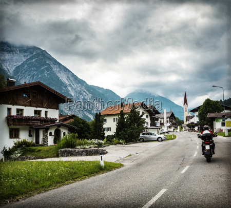 biker touring europe
