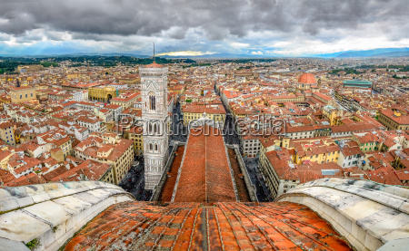 panoramic view of florence from cupola