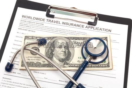 antrag auf reiseversicherung mit bargeld