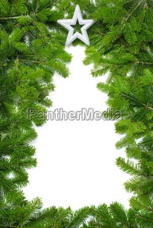 kreativer rahmen weihnachtsbaum