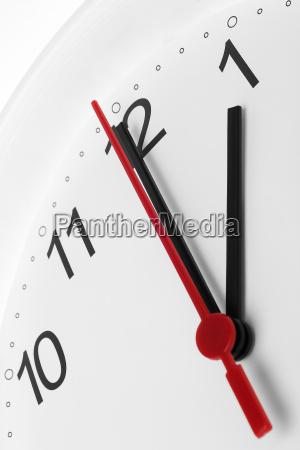 clock face showing lunch break