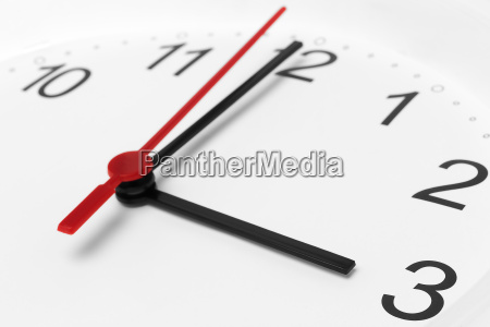 clock face showing business working time