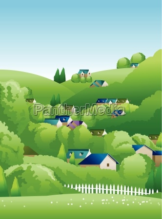 landschaft illustration