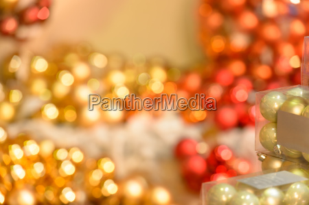 blurred sparkling red and golden christmas