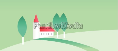 house and green landscape