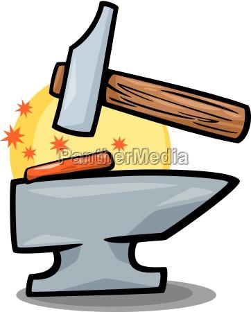 hammer and anvil clip art cartoon