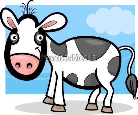 calf baby farm animal cartoon illustration