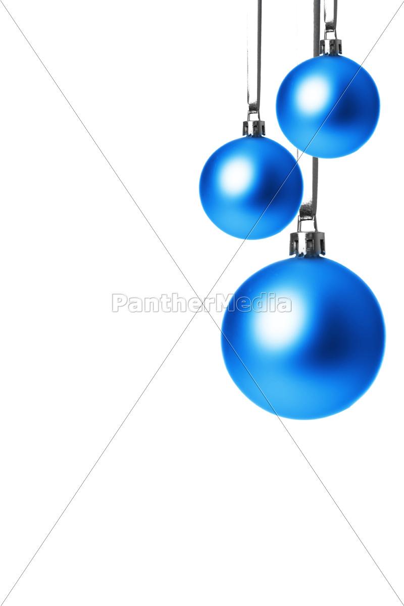 Christbaumkugeln Blau.Stock Photo 10093598 Blaue Christbaumkugeln Hängend Freigestellt Mit Weißem