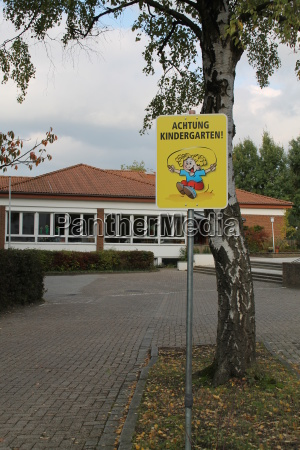 ein kindergartenschild