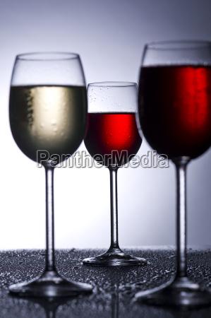 wine glasses in the back light