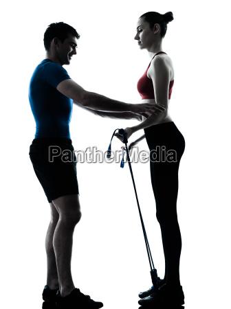 trainieren sie mannfrau die gymnastikstick ausuebt