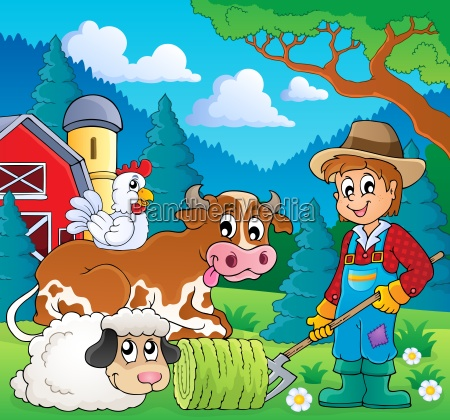 farm animals theme image 9