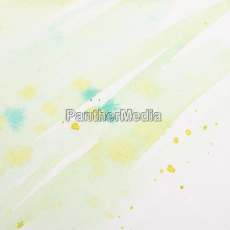 aquarell in gruen und gelb