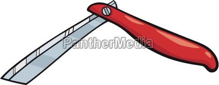 razor clip art cartoon illustration