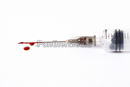 bloody syringe