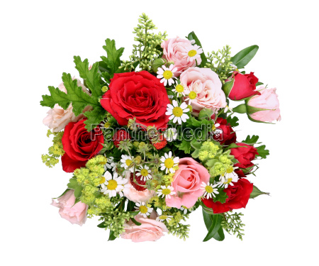bouquet with various roses and wild