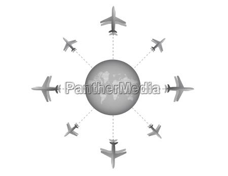 illustrationsgrafik fuer das reiseziel