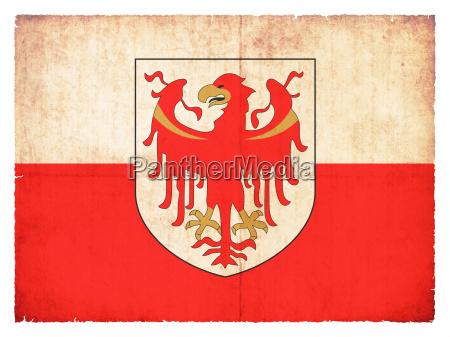 grunge flagge suedtirol italien