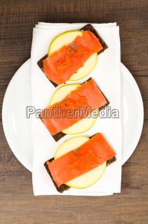 smoked wild salmon with keta caviar