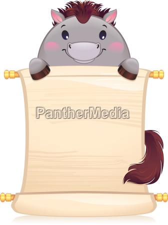 pferd mit scroll