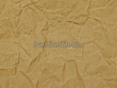 hintergrund packpapier textur braun knicke