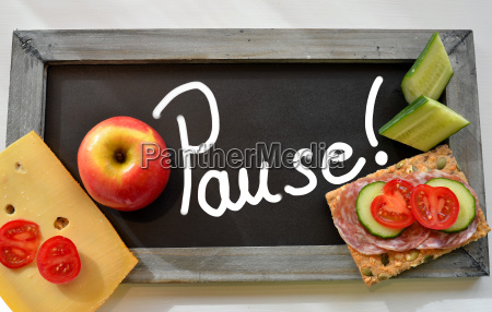 pause tafel schule fruehstueck