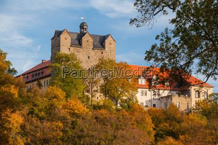 castle park with the castle ballenstedt
