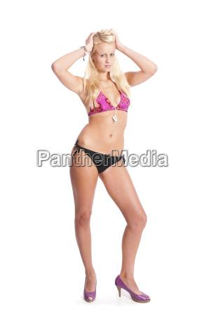 blonde girl in bikini