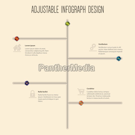 infographic design with slideable buttons