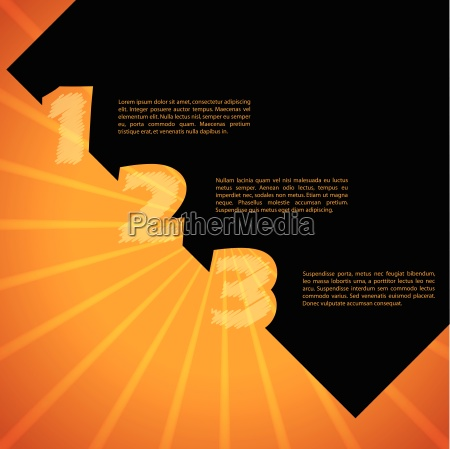 infographic design with bursting background