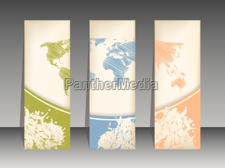 tag set with world map