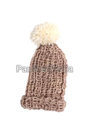 braune strickmuetze wooly hat