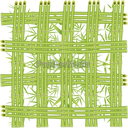grid of bamboo stalks on a