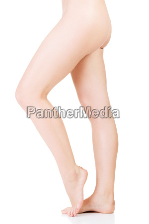womans naked body part legs side