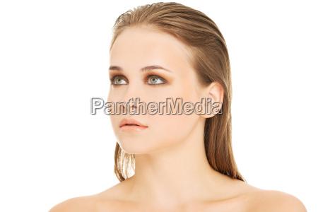 attractive womans portrait closeup