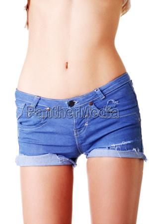 slim fit weiblichen bauch nahaufnahme