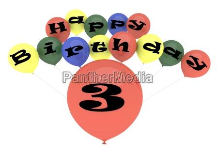dritte ballon luftballon drei ballone luftballons