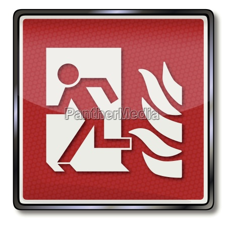 fire safety signs man it shone