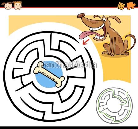 cartoon labyrinth oder labyrinth spiel