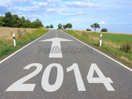 2014 road with arrow