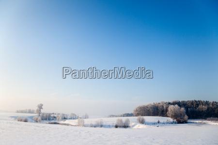idyllic winter landscape in thuringia