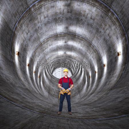 beton-tunnel, und, mann - 10299387