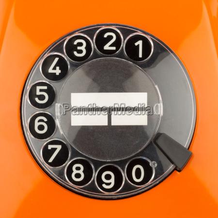 orange rotary dial