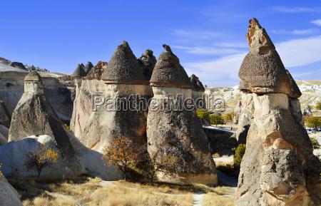 felsen von cappadocia in zentralanatolien die