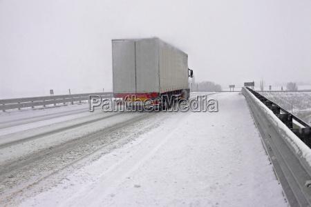 snowy autobahn