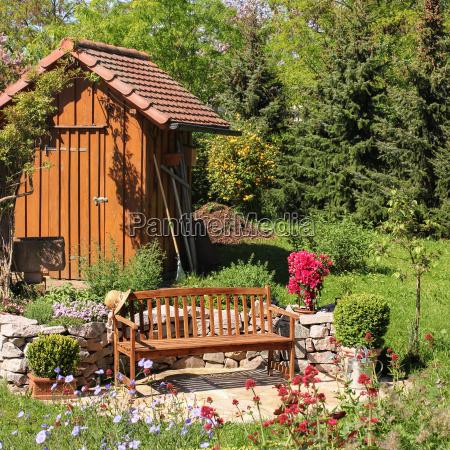 seat in the garden sitzplatz im