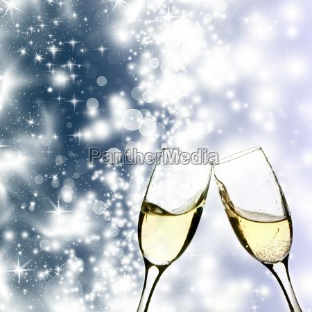 champagner, und, lichterketten - 10468523