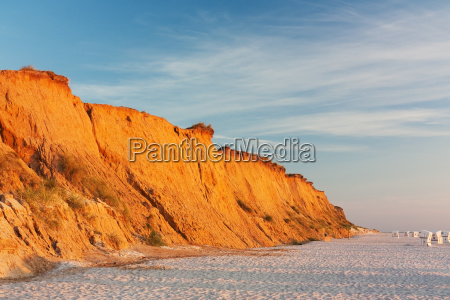 red cliff in kampen on sylt