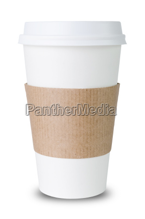 paper cup sleeve against white background