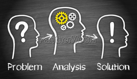problem and solution business concept